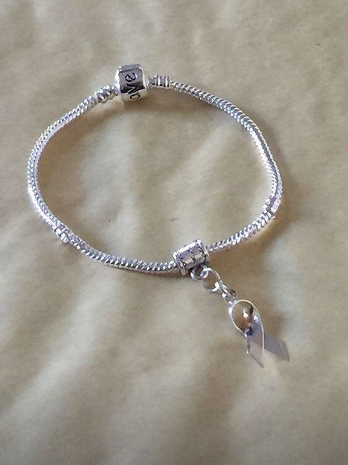 Silver Ribbon snake bracelet