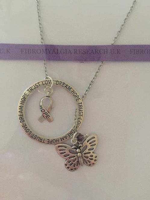 Butterfly slip necklace