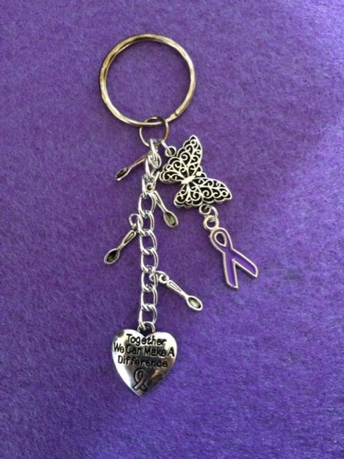 Butterfly and Spoon keyring