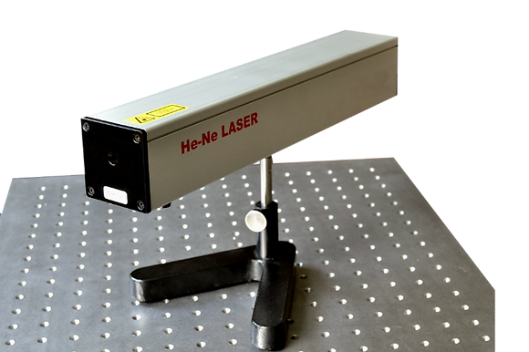 Laser He-Ne sur tige