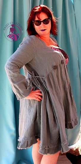 Linen Over Dress