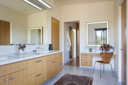 Modern style master bath.