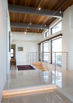 Gallery featuring marble floors.