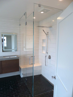 Modern style master bath remodel.