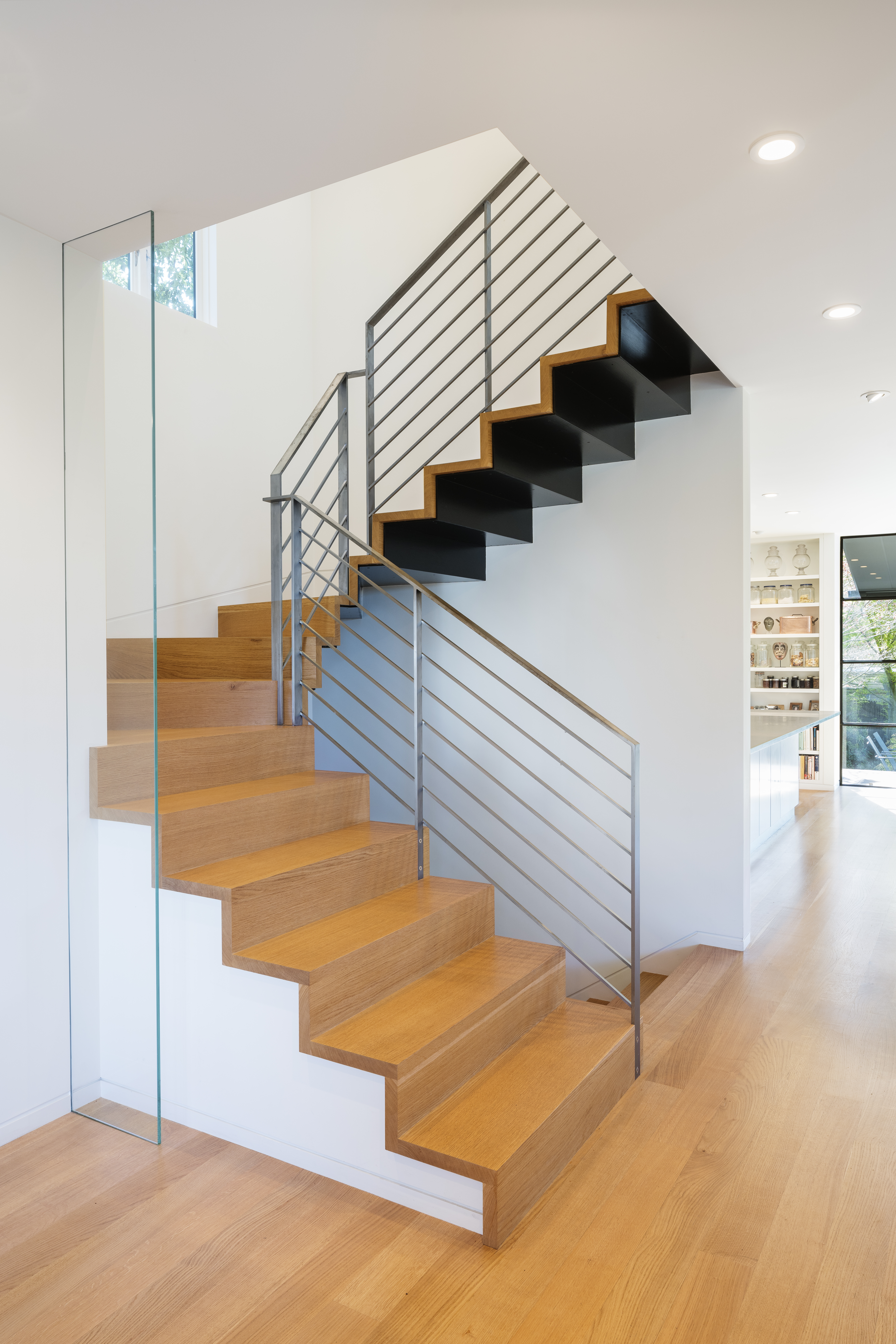 Cantilever stairway.