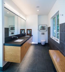 Master bath remodel in modern style.