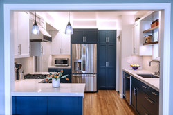 Transitional style kitchen remodel.