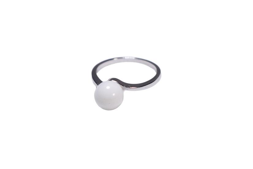 Bague Simple Perle 8mm - Lait Maternel