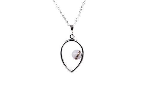 Collier Atypique Perle 8 mm Lait Maternel Solidifié