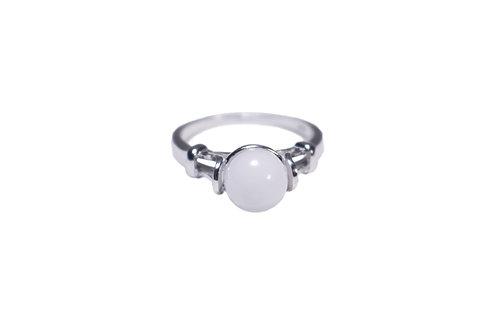Bague perle 8mm Lait maternel solidifié
