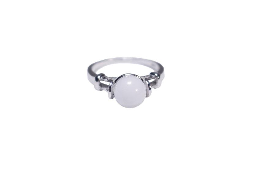 Bague perle 8mm - Lait Maternel