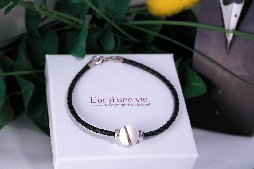 Bracelet Cuir Charme - Cheveux d'Ange