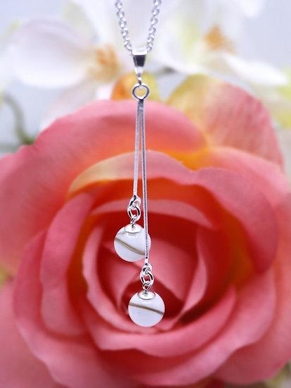 Collier Double Perle 8 mm - Lait Maternel