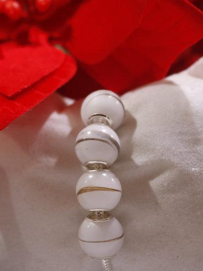 Bracelet Charme 4 perles - Lait Maternel