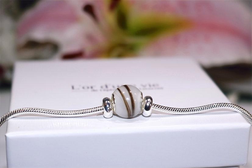 Bracelet Charme 1 perle - Lait Maternel
