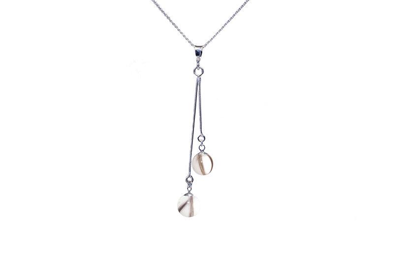 Collier Double Perles 8 mm - Cheveux d'Ange