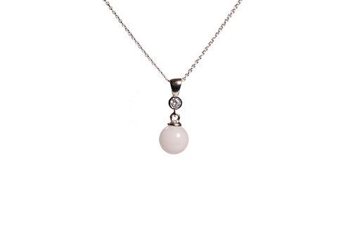 Collier discret perle 8mm Lait maternel solidifié