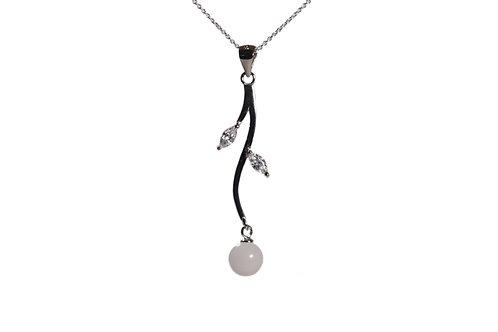 Collier élégant perle 8mm Lait maternel solidifié