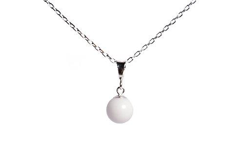 Collier simple perle de lait maternel solidifié 8mm