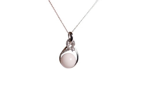 Collier sublime perle 12mm Lait maternel solidifié