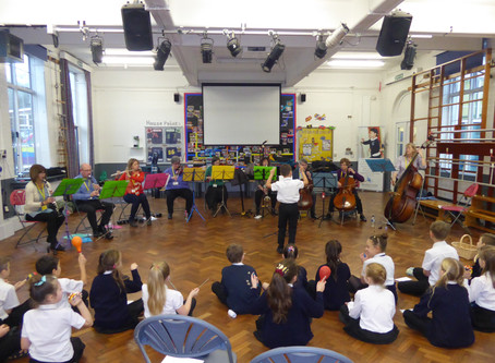 Our North Downs Ensemble visits young Caterham musicians