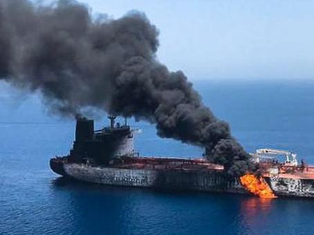 За подрывом судна в Оманском заливе стоит Иран