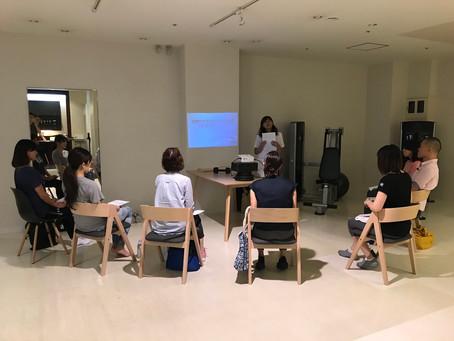 健康セミナーを開催しました。テーマは女性のカラダとトレーニング。