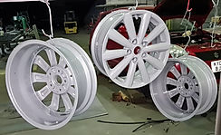 Suzuki Swift Alloy Wheels, Fresh out of the powder coating oven