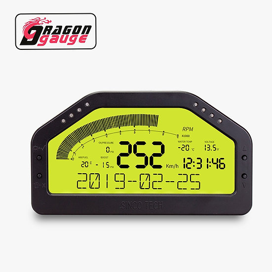 Rally Race Dash Panels LCD Display 9 in 1  Multi-Function Race Dashboard