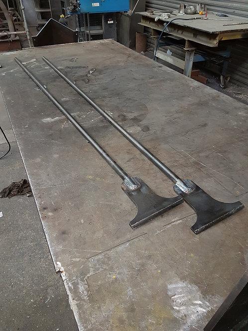 Long handled scrapers