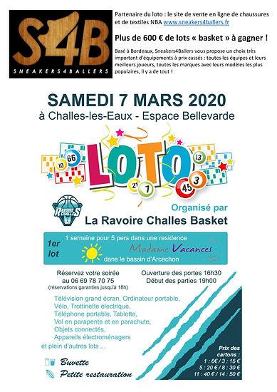 Affiche Basket Loto La Ravoire Challes B