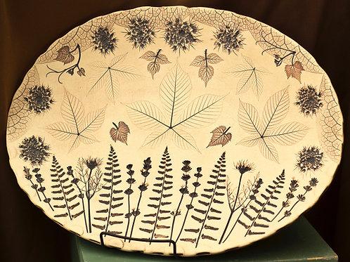Buckeye lavender fern platter
