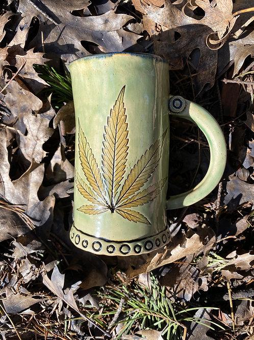 Jade green mug