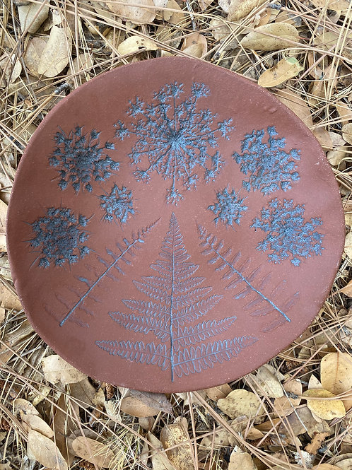 Inverted Fern and Fractal Queen Annes Lace Plate