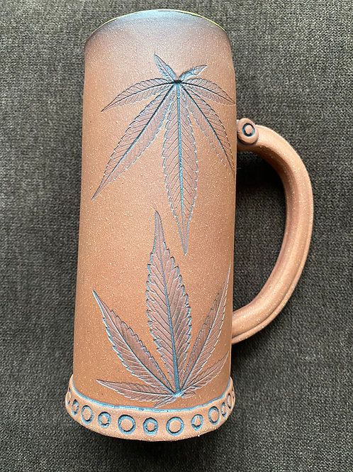 Red Clay Sacred Leaf Mug