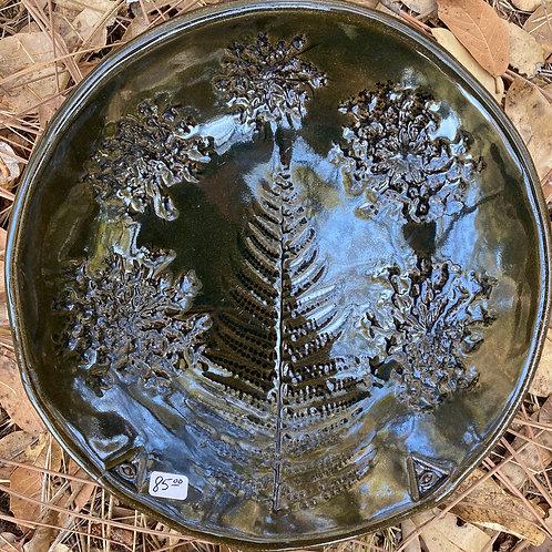 Deep Jungle Green Glaze Plate