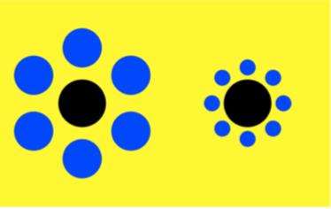 Classic Ebbinghaus-Titchener Illusion