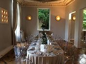 Repas d'affaire dans le salon du Château de Précy