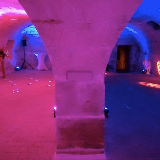 Salle voutée dancefloor du Château de Précy