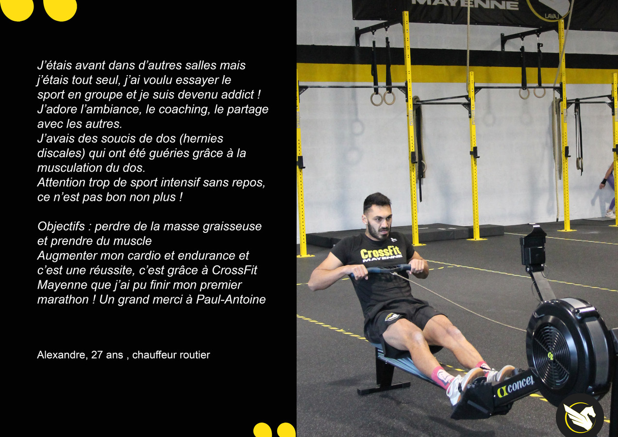 CrossFit témoignages Alex