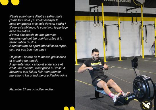 CrossFit témoignages Alex
