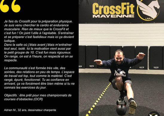 CrossFit témoignages Adrien