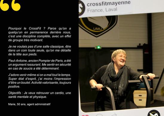 CrossFit témoignages Marie