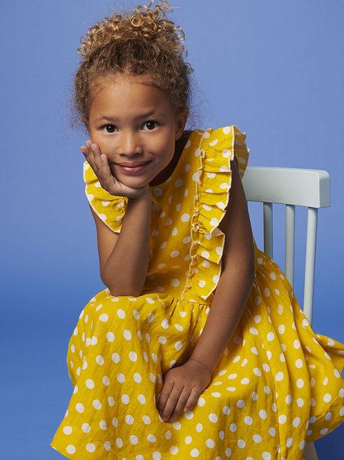 PETIT BATEAU Short-Sleeved Linen Dress