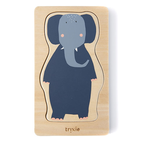TRIXIE Wooden 4-Layer Animal Puzzel