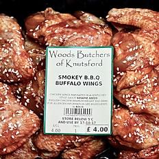 Smokey BBQ buffalo wings. Min weight 800gm