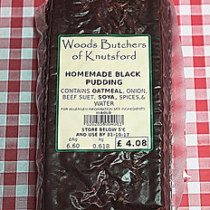 Homemade black pudding