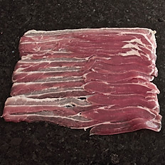 Unsmoked dry cure streaky bacon