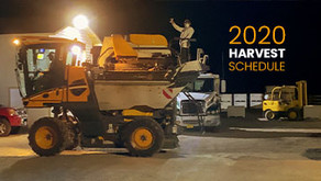 2020 Harvest Schedule