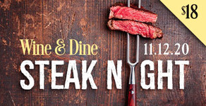 WINE & DINE : Steak Night